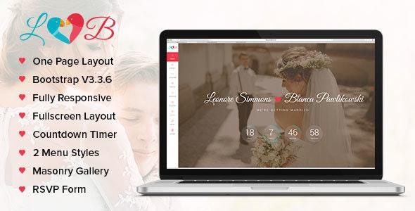 Lovebirds - Responsive Wedding HTML Template - Wedding Site Templates