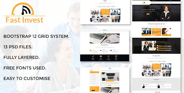 Fast Invest Multipurpose Business PSD - Business Corporate