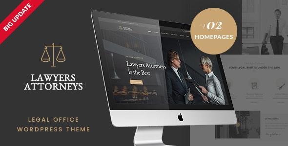 Lawyer Attorneys - Law firm Office WordPress Theme - Business Corporate