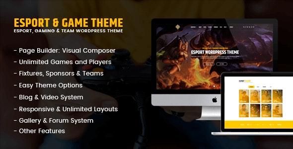 eSport - Game & Gaming - Entertainment WordPress