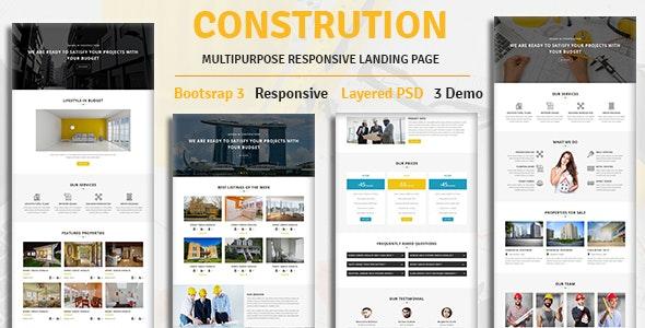 CONSTRUCTION - Multipurpose Responsive HTML Landing Page - Landing Pages Marketing
