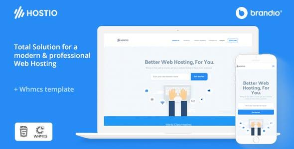 Hostio HTML & WHMCS Web Hosting Template
