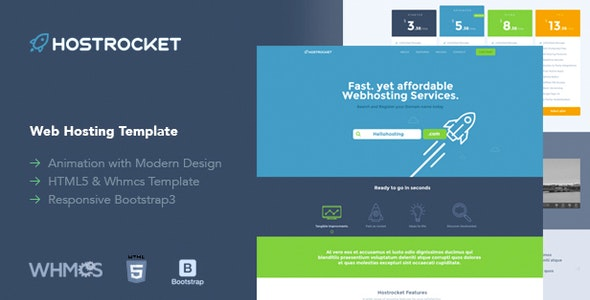Hostrocket WHMCS & HTML Template - Hosting Technology