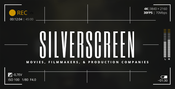 Silverscreen - A Theme for Movies, Filmmakers, and Production Companies - Film & TV Entertainment