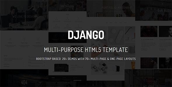 DJANGO - Multi-Purpose Parallax  Multi-Page & One-Page - Corporate Site Templates
