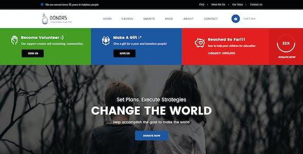 Donors - Multipurpose Non-profit PSD Template