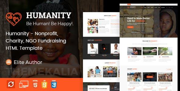 Humanity - Nonprofit, Charity, NGO Fundraising HTML Template