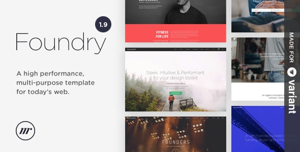 Foundry Multipurpose HTML + Variant Page Builder - Corporate Site Templates
