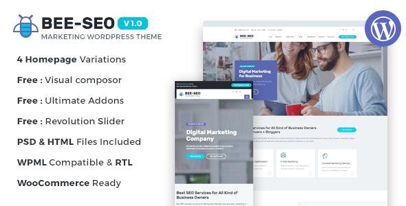 Bee SEO - Marketing WordPress Theme - Marketing Corporate