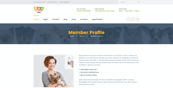 Salon - Pet Grooming PSD Template