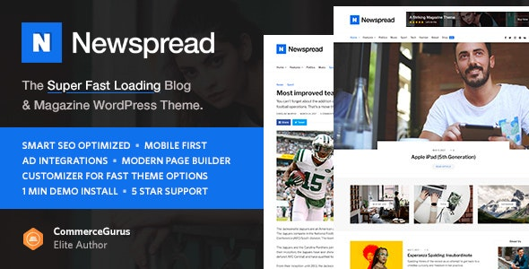 Newspread - Magazine, Blog, Newspaper and Review WordPress Theme - Blog / Magazine WordPress