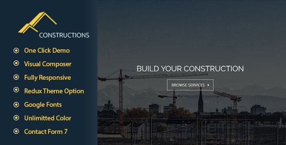Constructions Business WordPress Theme - Business Corporate