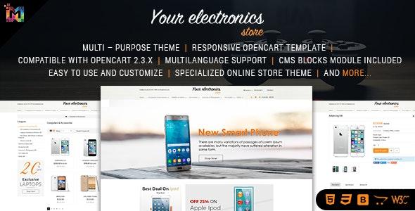 Responsive OpenCart Theme Store - Shopping OpenCart