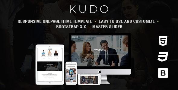 Kudo - Responsive Onepage HTML Template - Creative Site Templates
