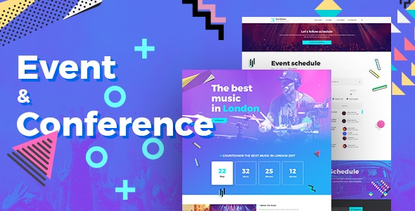 Exhibition - Event & Conference PSD Template - Events Entertainment