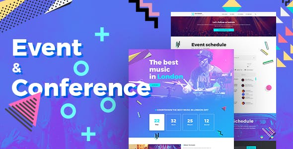 Exhibition - Event & Conference PSD Template