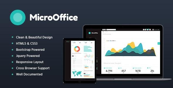 Micro Office | HTML Admin Template - Admin Templates Site Templates
