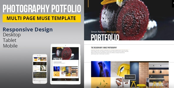 Photography Portfolio Muse Template - Creative Muse Templates