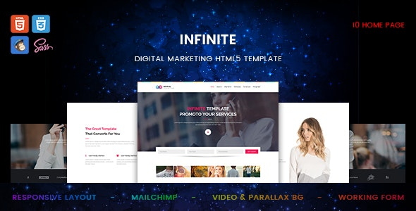 Infinite - Digital Marketing HTML5 Template - Specialty Pages Site Templates