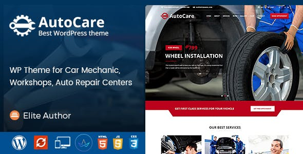 Auto Care - Car Mechanic WordPress Theme