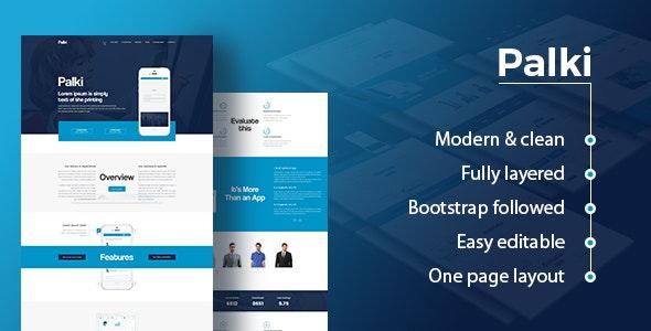 Palki App Landing Page PSD Template - Photoshop UI Templates