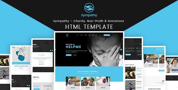 Sympathy - Charity, Non-Profit & Donations - HTML Template - Charity Nonprofit