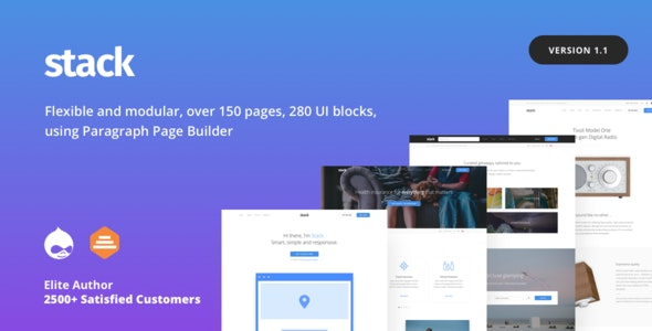 Stack - Multi purpose Drupal 8 Theme with Paragraph Builder