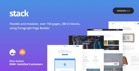 Stack - Multi purpose Drupal 9 & 8 Theme with Paragraph Builder