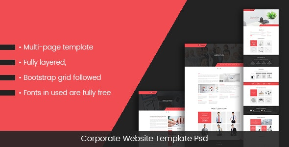 Foinny Corporate Website PSD Template - Business Corporate