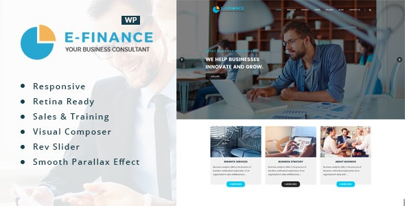 Efinance: Consultancy WordPress Theme - Business Corporate
