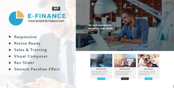 Efinance: Consultancy WordPress Theme