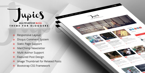 Jupios - Ghost Theme for Bloggers (GloriaThemes) - Ghost Themes Blogging