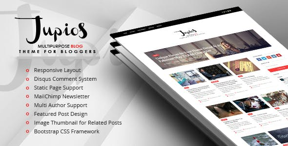 Jupios - Ghost Theme for Bloggers (GloriaThemes)