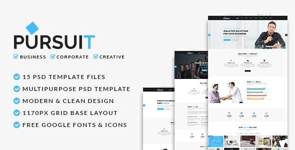 Pursuit - Business, Corporate, Creative PSD Template - Corporate Photoshop