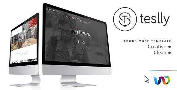 Teslly Personal Web Portfolio Muse Template - Personal Muse Templates