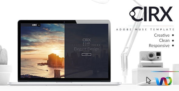 Cirx Multipurpose Template - Corporate Muse Templates