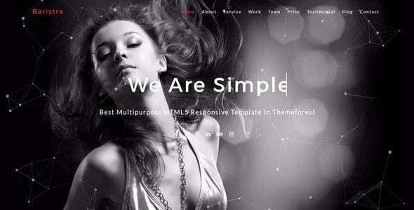Baristra-Multipurpose HTML5 Template - Creative Site Templates