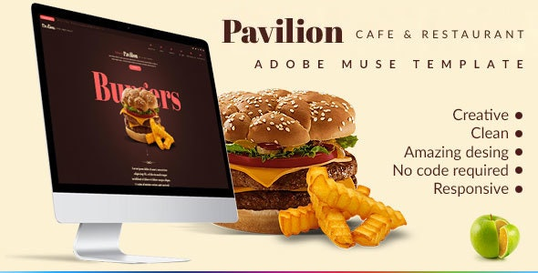 Pavilion - Restaurant & Cafe Muse Template - Muse Templates
