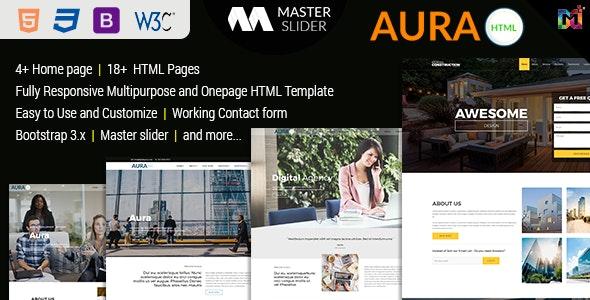 Aura - Responsive Multipurpose HTML5 Template - Corporate Site Templates
