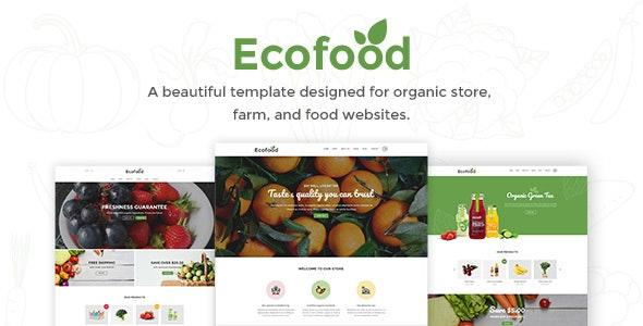 Ecofood - Organic & Farm PSD Template - Food Retail