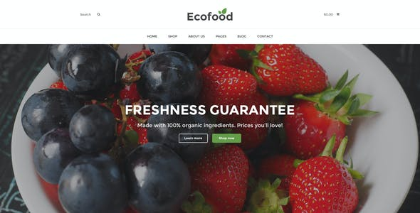 Ecofood - Organic & Farm PSD Template