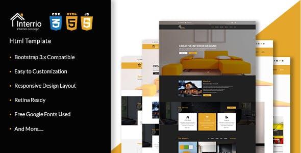 Interrio - Corporate Architecture and Interior Design, Responsive Html5 Template