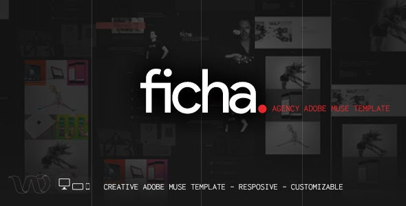 Ficha creative muse template - Muse Templates