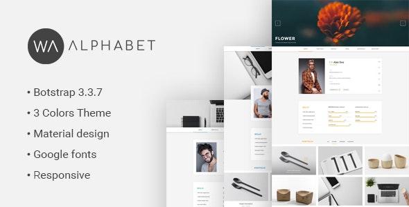 Personal Resume - Material HTML Template - Portfolio Creative