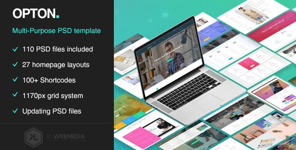 Opton - Multi-Purpose PSD Template - Creative Photoshop