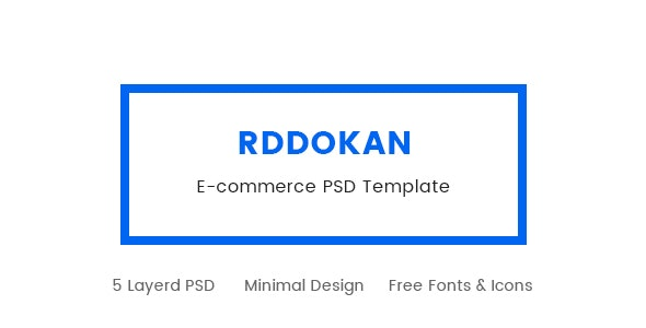RDDokan PSD Template - Retail Photoshop