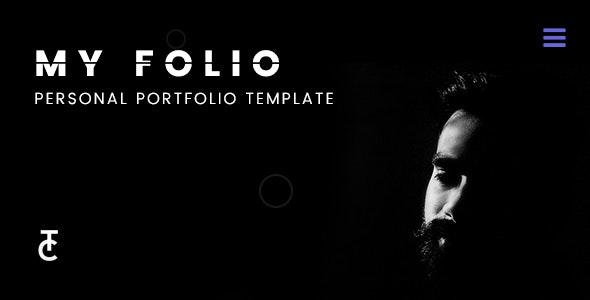 Myfolio - A Personal Portfolio Template - Personal Site Templates