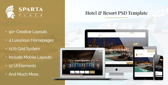 Sparta | Hotel & Resort PSD Template - Travel Retail