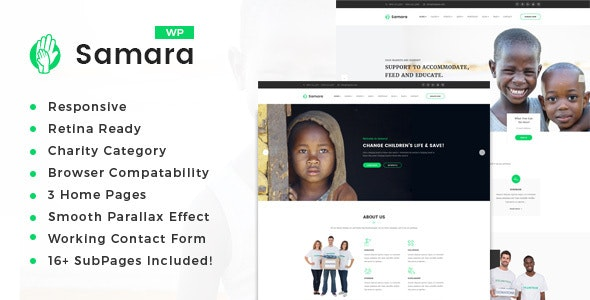 Samara - Charity/Fundraising WordPress Theme - Charity Nonprofit