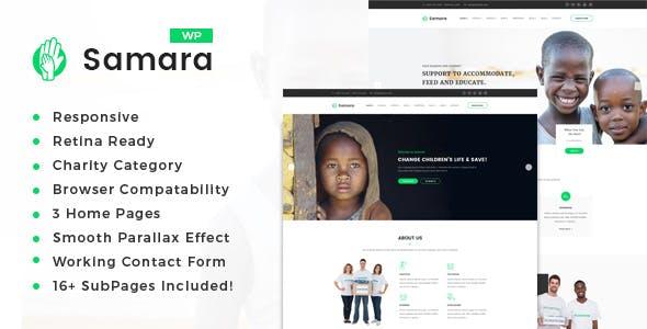 Samara - Charity/Fundraising WordPress Theme